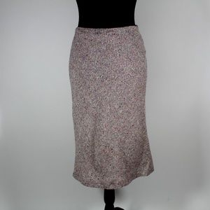 French Connection Lavender Tweed Wool Midi Skirt